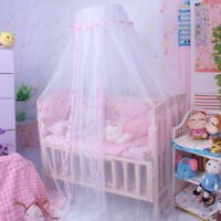 Baby Bed Mosquito Round Lace Mesh Dome Curtain Net for Toddler Crib Cot Canopy