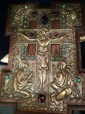 FABULOUS ORIGINAL ART NOUVEAU, FRENCH ,RELIGIOUS PLAQUE