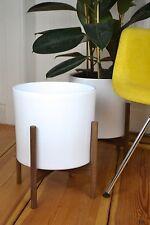 XL Mid Century modern design danish Planter Blumentopf Walnuss