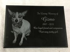 "Pet Memorial Headstone 7"" x 10"" (Marble)"