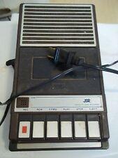 Vintage Jsr Cassette Tape Recorder 221-D Multi Powered Brown Outer Casing