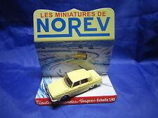 DV6265 NOREV RENAULT 10 R10  BERLINE PLASTIQUE JAUNE PALE Ref 9 1/43 TBE