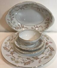 33 Pc Vintg Harmony House Woodhue HH Spice Brown HH Spice Beige Fine China Japan