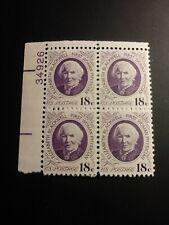 US 1974 Scott # 1399 Elizabeth Blackwell Plate number block of 4 MNH