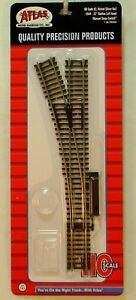 """NEW HO Atlas 544 22""""r Manual Left Hand Turnout Code 83 Snap Track"""