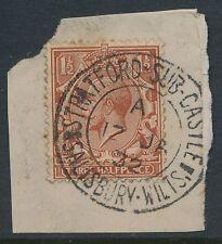 GB Kg5 1932 Stratford SUB CASTELLO Salisbury Doppio Anello CD TIMBRO