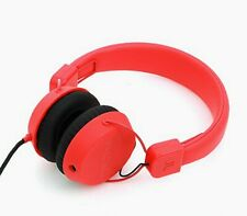 WeSC Piston Street On-Ear Wired Foldable Headphones Bright Red In-Line Remote