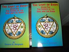 THE LIGHT OF EGYPT 2 VOLUMES THOMAS H BURGOYNE 1999 PAPERBACK