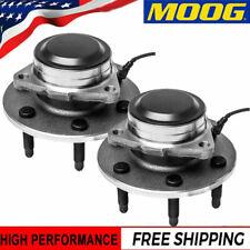 Pair MOOG Wheel Hub & Bearing fits Chevy Silverado 1500 GMC Yukon 2WD with ABS
