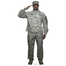 DIGITAL CAMO ARMY SOLDIER Saluting Lifesize CARDBOARD CUTOUT Standee Standup F/S