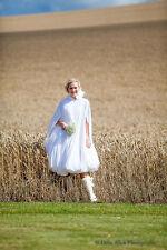 Brides WEDDING DAY Impermeabile Pioggia Mantello che tiene il vostro abito da Puddles
