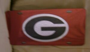 UNIVERSITY OF GEORGIA POWER G DESIGN RED  ACRYLIC LICENSE PLATE TAG NEW SEALED