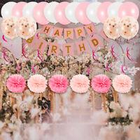 Joyeux anniversaire ballon en papier bannière ballons Bunting Party Decor DIY