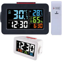 Digital Alarm Clock With Thermometer Hygrometer Humidity Temperature Display