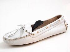 Bruno Magli Gommino Driving Loafer White Leather Women Size EU 39 US 8.5 $320
