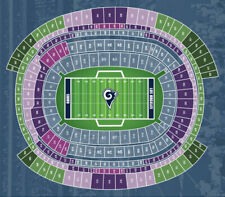 (4) Rams vs Patriots Mobile Tickets Front Row Upper Level Aisle Seats!!