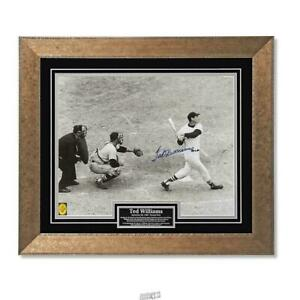 The Autographed Ted Williams Final Swing Photo