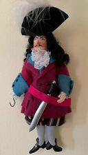 Gladys Boalt Christmas Ornament Peter Pan Captain Hook. Vintage. Signed 1989