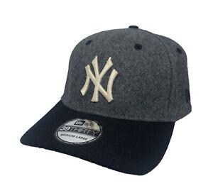 New York Yankees MLB New Era 39THIRTY Stretch Fit Cap NWT (Gray/Navy) Size M/L