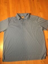 Mens THE FOUNDRY SUPPLY CO Blue Big & Tall S/S Polo Shirt Size 3XL