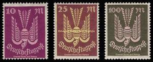 EBS Germany 1923 - Airmail - Wood Dove (II) Holztaube - Michel 235-237 MNH**