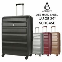 "Aerolite Large 29"" 4 Wheel ABS Hard Shell Checked Check In Hold Lugagge Suitcase"