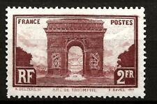 FRANCE (508) 1929  YV258 SG471  2f BROWN LAKE  FINE MOUNTED MINT
