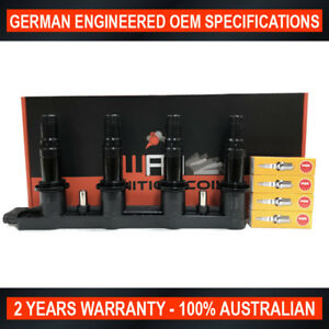 OEM Quality Ignition Coil Pack & 4x NGK Spark Plugs for Holden Barina TM 1.6L