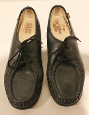Women's SAS Black Leather Casual Shoes Oxfords Handsewn Made USA -Sz 10N - EUC