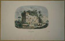 1843 Breton print CANDI KALASAN TEMPLE, JAVA, INDONESIA (#18)