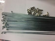 Steel Spokes/nippls Silver180 trough268mm.12G(2.6mm).straight gauge.36pc.set