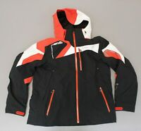 Spyder Men's Zip-Up Insulated Hooded Titan Ski Jacket MC7 Multi-Color Size XL