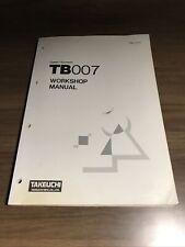 Genuine Takeuchi Tb007 Compact Excavator Workshop Repair Service Shop Manual