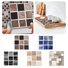 Mosaic Self-adhesive Stone Tile Sticker Kitchen Bathroom Wall Marble Effect