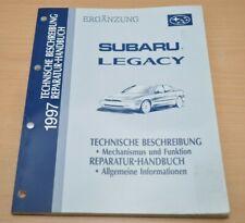 SUBARU Legacy 1997 Reparatur Handbuch Mechanismus Funktion Allgemeine Info