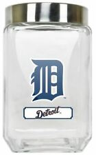 Detroit Tigers Jar Glass Canister Large Container With Lid Duckhouse MLB