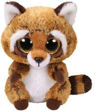 Rusty Raccoon - Ty Beanie Boos 6 inch - TY Boo Plush Teddy - Brand New Soft Toys