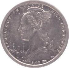 O185 Afrique Equatoriale Française 1 Franc Marianne 1948 SUPERBE +++ -> Faire of