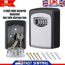 4-Digit Key Storage Box Outdoor High Security Wall Mounted Safe Code Secure Lock