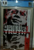 DEPARTMENT OF TRUTH #1 CGC 9.8 GRADED COVER A IMAGE COMICS JAMES TYNION