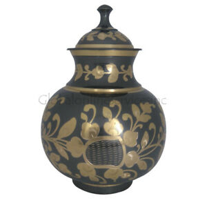 LARGE ADULT BRASS AND ALUMINIUM & PET Cremation URNS FOR ASHES