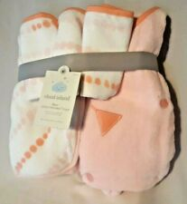 """Cloud Island Hooded Towel Infant 30""""x30"""" Pink 5 pack 2 Towels and 3 Wash Cloths"""