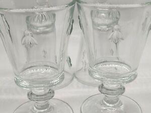 Paris Musees La Rochere 4 Clear Glass Bee Goblets