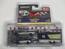 GREENLIGHT HITCH & TOW RACING * NISSAN GT-R (R35)  + FORD F-150 *  CAR HAULER