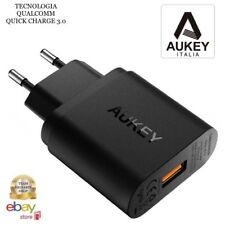 AUKEY Quick Charge 3.0 Caricabatterie USB da Muro 19,5W QUALCOMM TECH ITALIANA