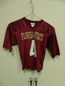 FLORIDA STATE SEMINOLES #4 FOOTBALL JERSEY YOUTH SIZE S 6-8