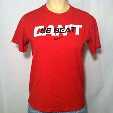 Nike Can't Be Beat Red Short Sleeve Graphic T-Shirt YOUTH Size M Medium