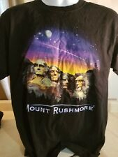 Fred Harvey Trading Company Mount Rushmore Black T Shirt Size L