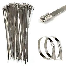 100 Stück 4,6x300mm Edelstahl Metall Stahl Kabelbinder Kabel Binder