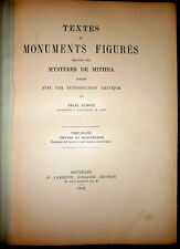 Mysteries of Mithra, Mysteres de Mithra, Cumont 1896 1stEd Roman Empire Religion